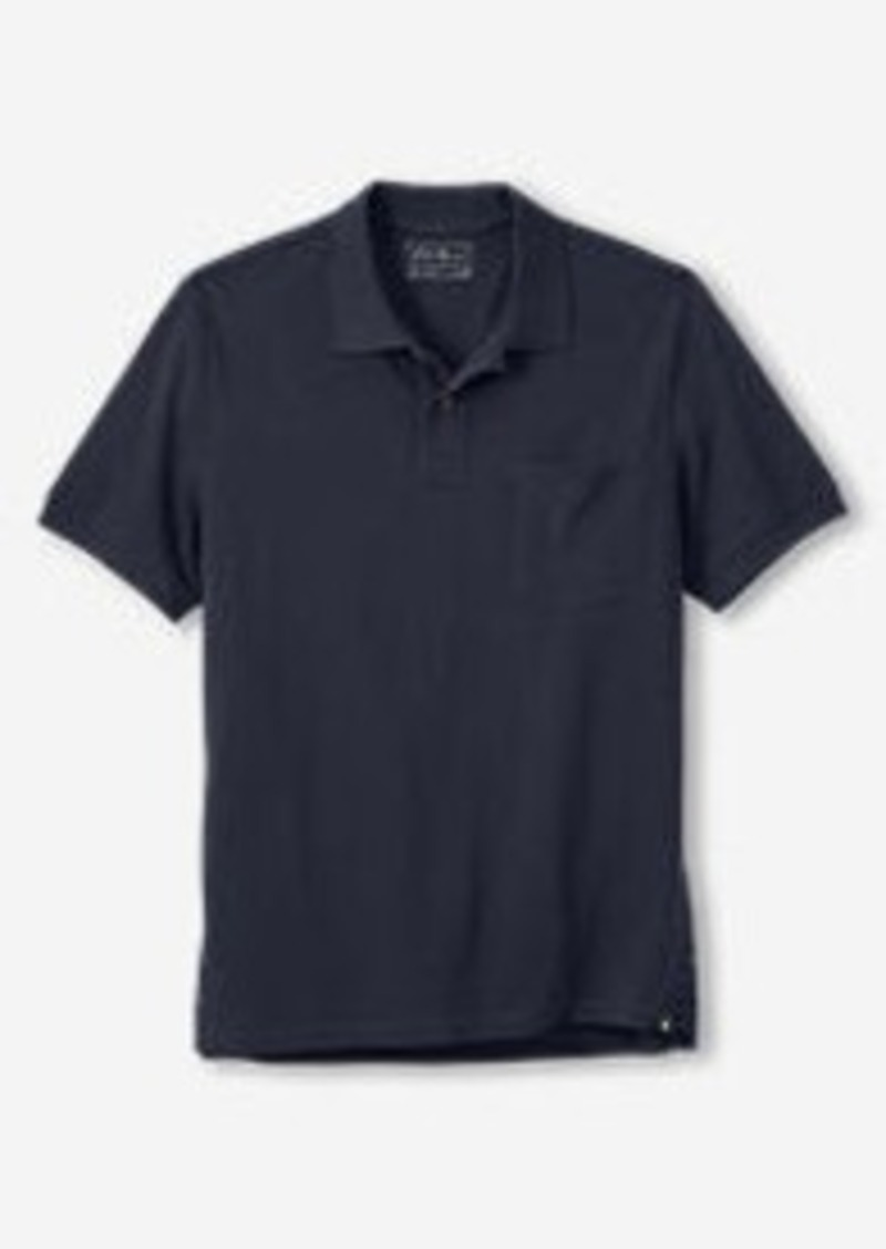 Eddie Bauer Men 39 S Field Short Sleeve Pocket Polo Casual