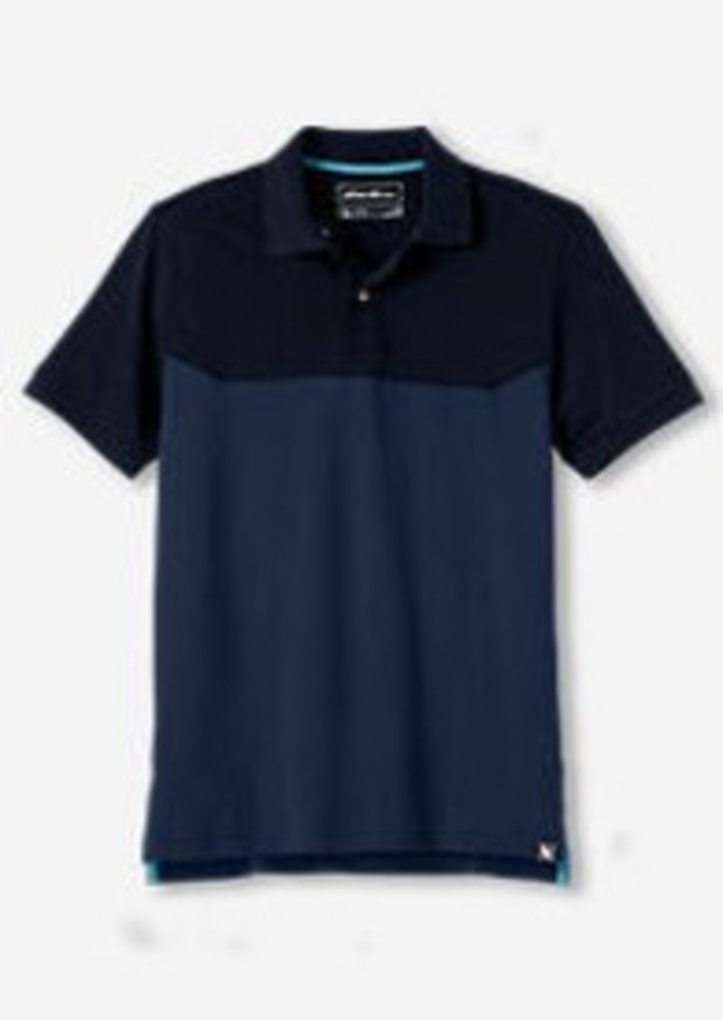 Eddie Bauer Men's Field Short-Sleeve Polo Shirt - Colorblock