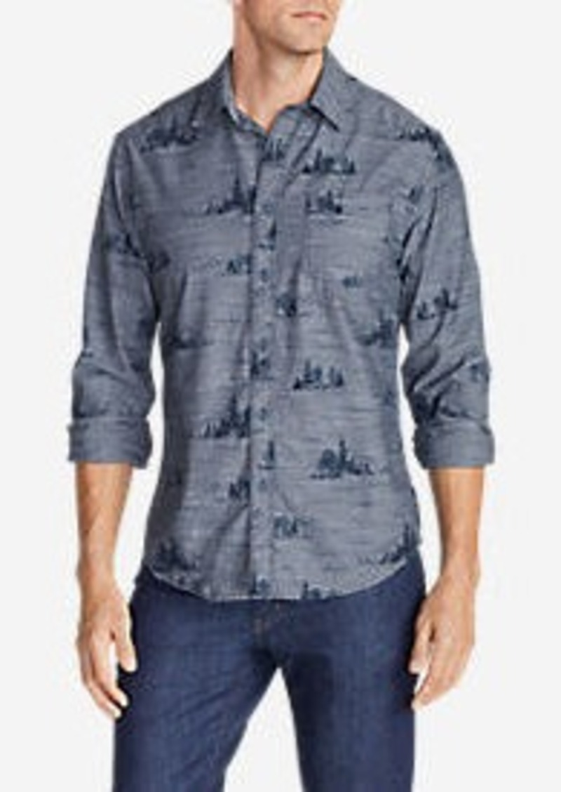 Eddie Bauer Men's Grifton Long-Sleeve Shirt - Print
