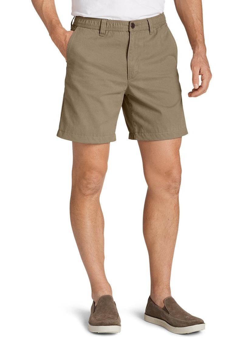 """Eddie Bauer Men's Legend Wash 7"""" Chino Shorts - Solid"""