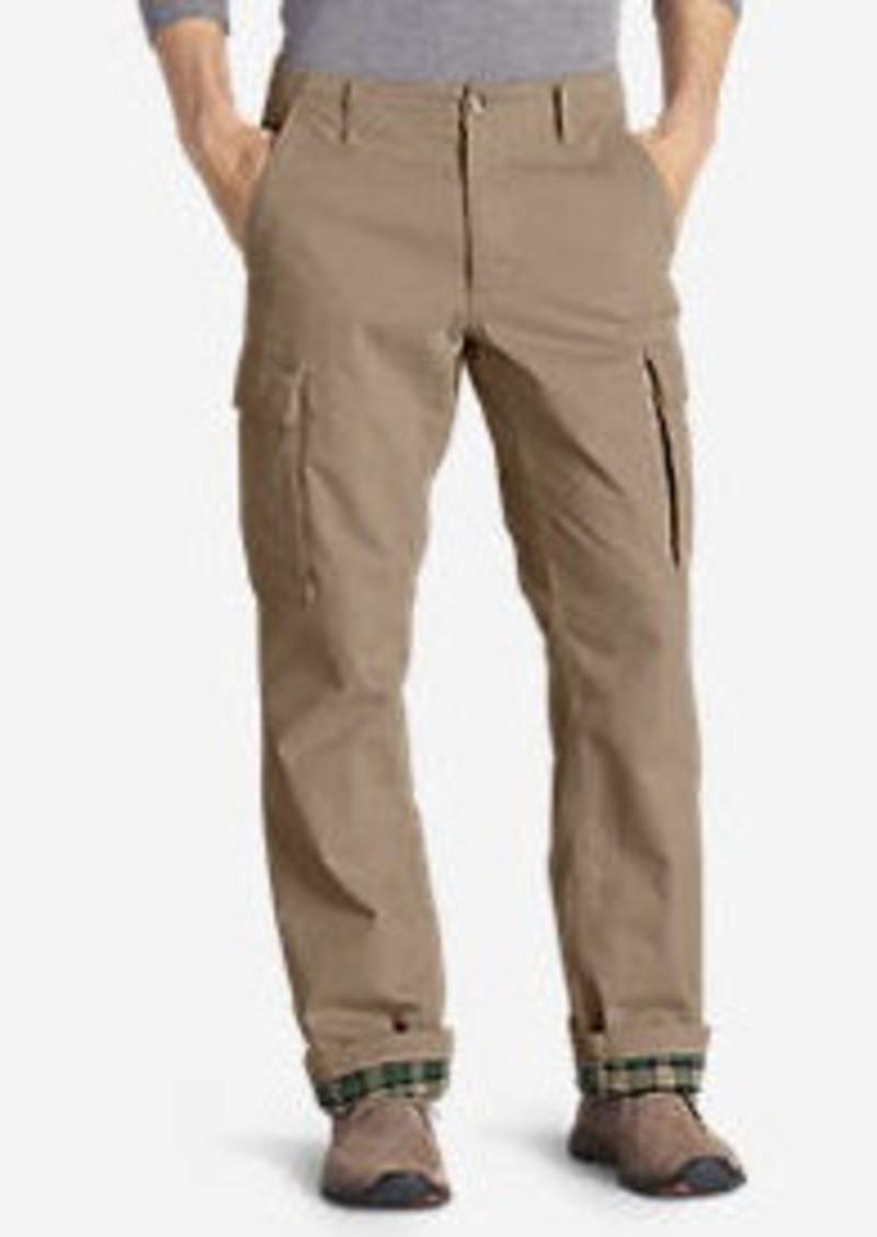 Eddie Bauer Men's Legend Wash Flannel-Lined Cargo Pants - Classic Fit