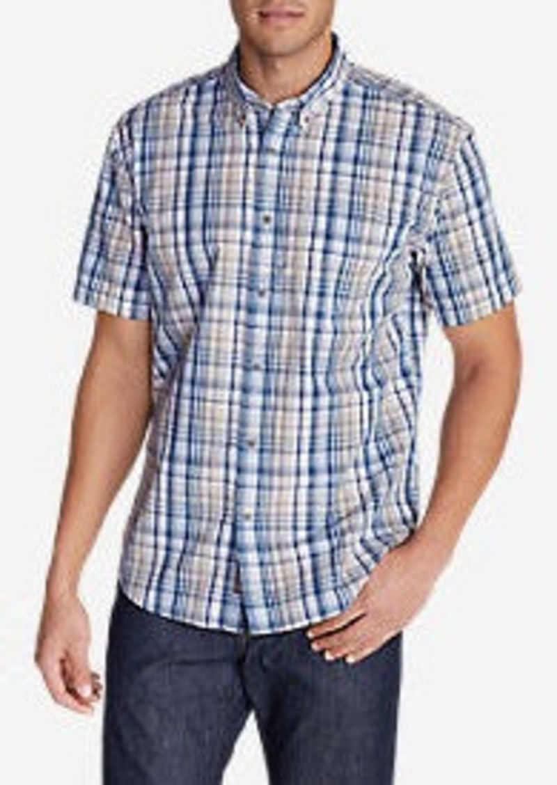 Eddie Bauer Men's Legend Wash Short-Sleeve Poplin Shirt