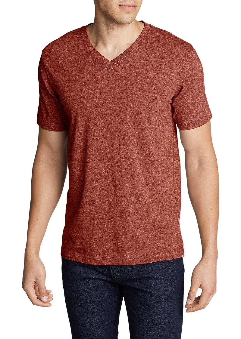 Eddie Bauer Men's Legend Wash Short-Sleeve V-Neck T-Shirt - Classic Fit