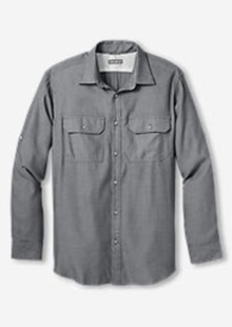Eddie Bauer Men's On The Go Herringbone Shirt