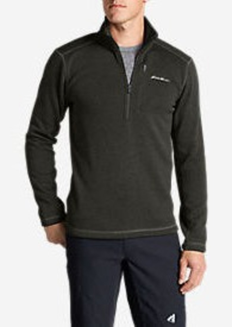Eddie Bauer Men's Radiator Fleece 1/4-Zip Mock Neck Pullover