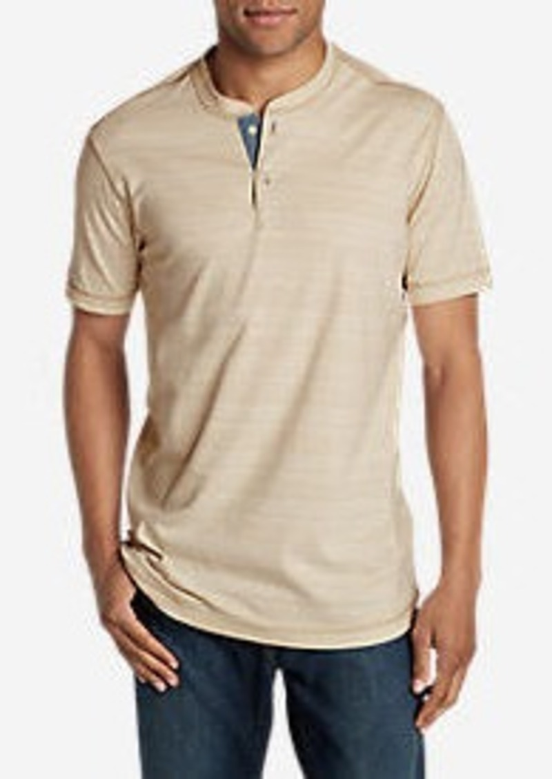 Eddie Bauer Men's River Run Short-Sleeve Henley Shirt