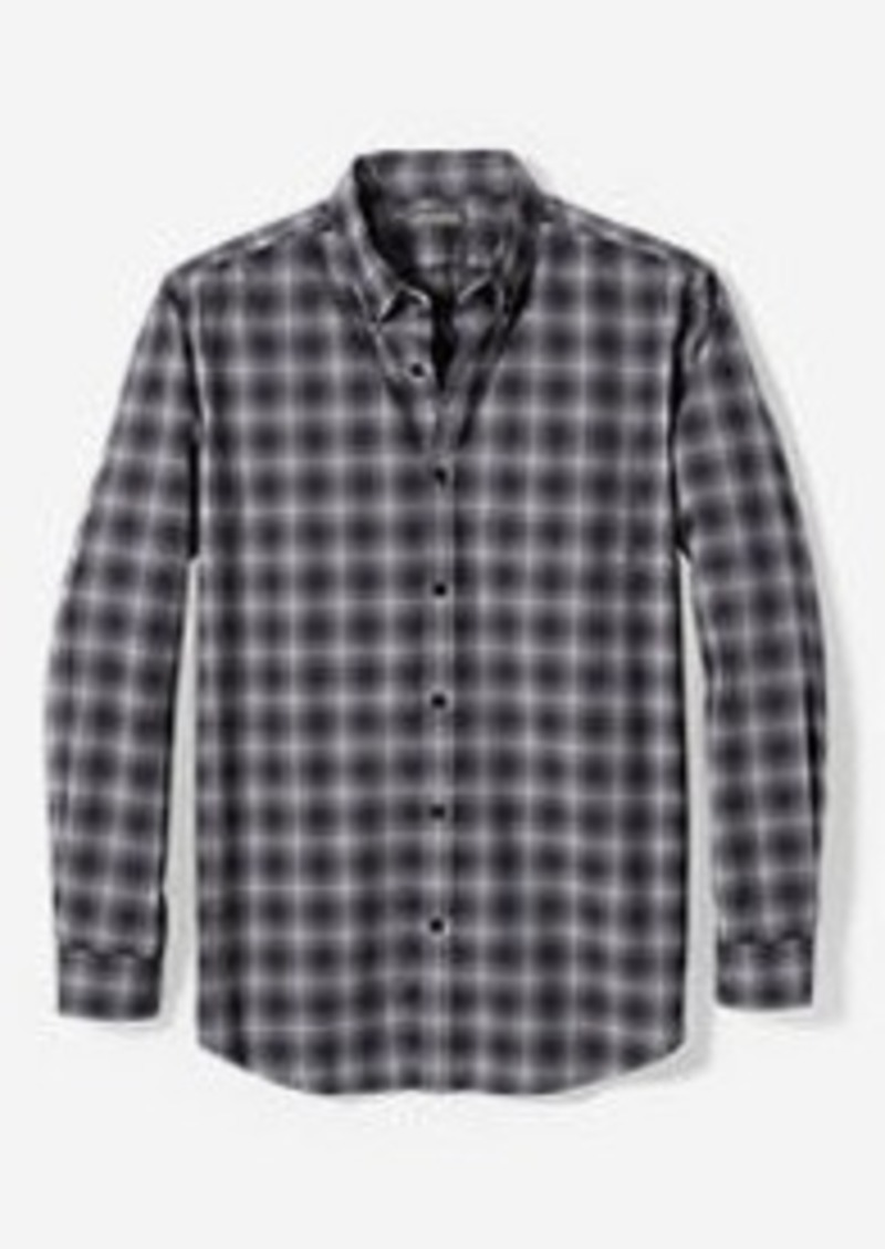 Eddie Bauer Men's Signature Twill Relaxed Fit Long-Sleeve Shirt - Pattern