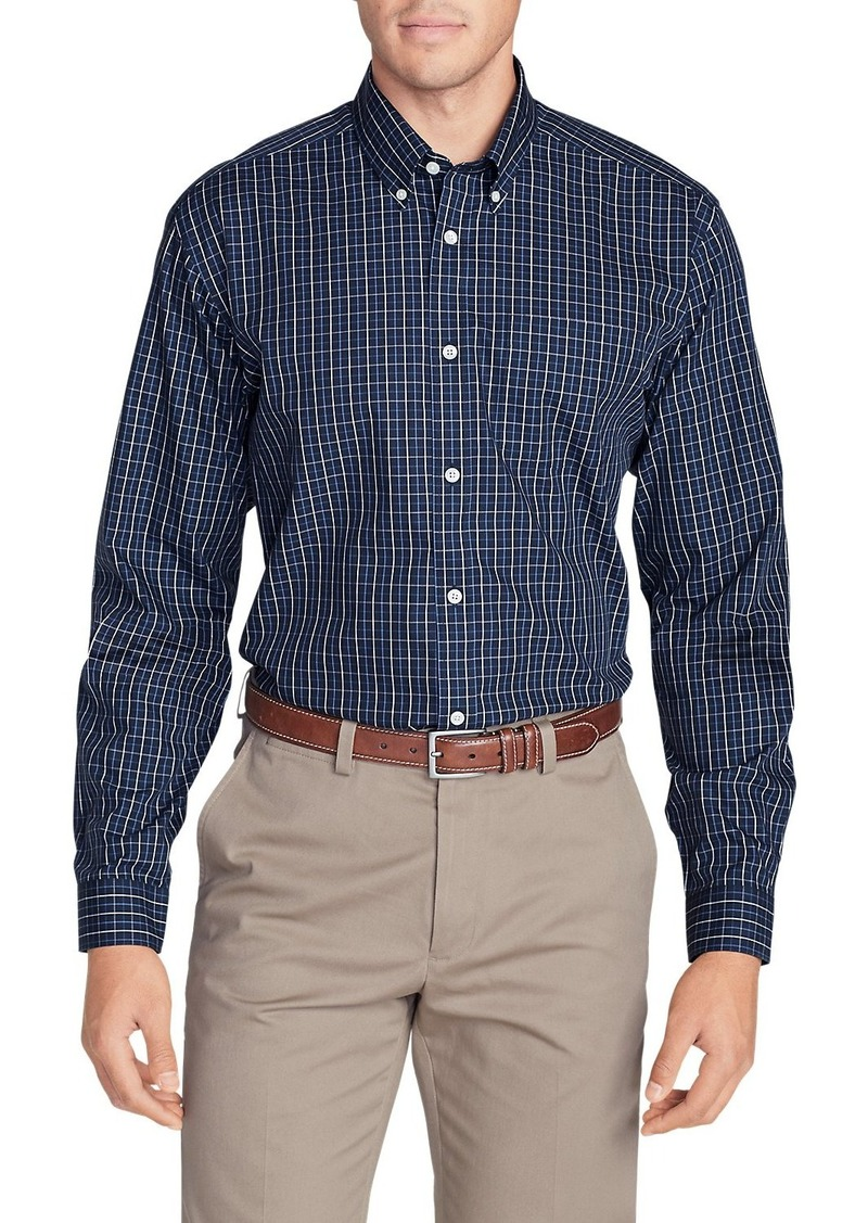 Eddie Bauer Men's Wrinkle-Free Classic Fit Pinpoint Oxford Shirt - Blues