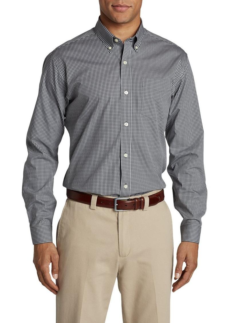 Eddie Bauer Men's Wrinkle-Free Pinpoint Oxford Classic Fit Long-Sleeve Shirt - Seasonal Pattern