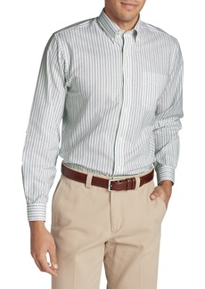 Eddie Bauer Men's Wrinkle-Free Relaxed Fit Oxford Cloth Shirt - Pattern