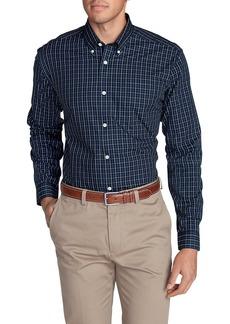 Eddie Bauer Men's Wrinkle-Free Slim Fit Pinpoint Oxford Shirt - Blues