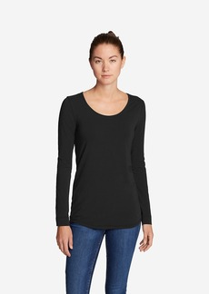 Eddie Bauer Pima Scoop-Neck T-Shirt - Solid
