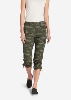 Women's Adventurer® Stretch Ripstop Cropped Cargo Pants - Camo - Slightly Curvy