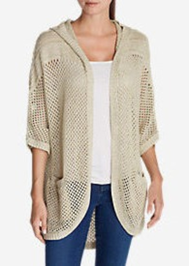 Eddie Bauer Women's Beachside Hooded Cardigan Sweater | Sweaters ...