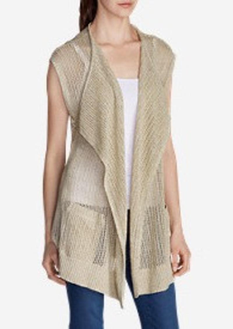 Eddie Bauer Women's Beachside Long Vest Sweater