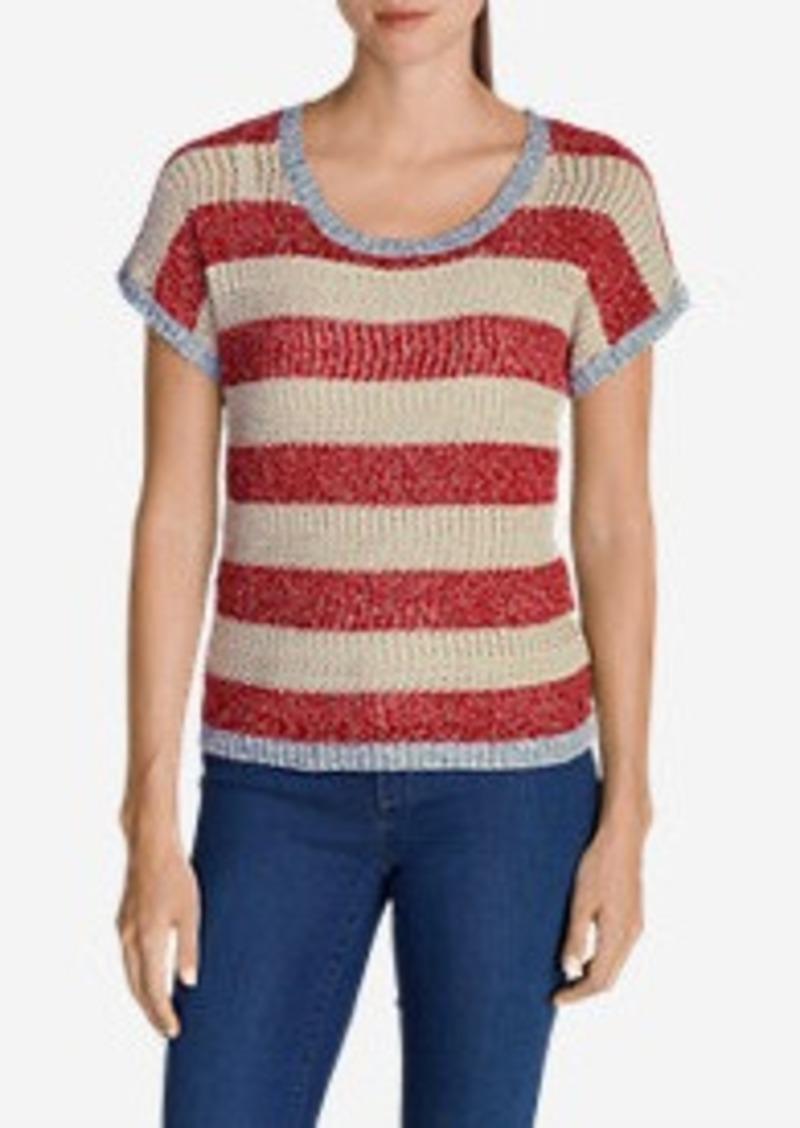 Eddie Bauer Women's Beachside Short-Sleeve Pullover Sweater