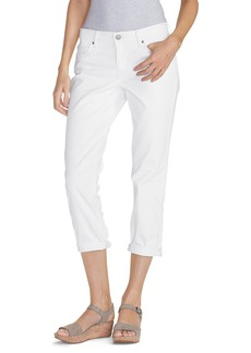 Eddie Bauer Women's Boyfriend Cropped Jeans - White