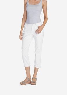 Women's Boyfriend Cropped Jeans - White