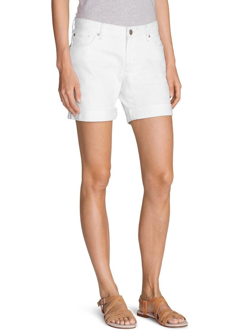 Eddie Bauer Women's Boyfriend Denim Shorts - White