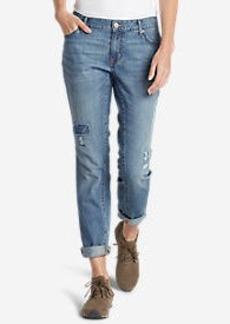 Eddie Bauer Women's Boyfriend Slim Jeans - Destroyed