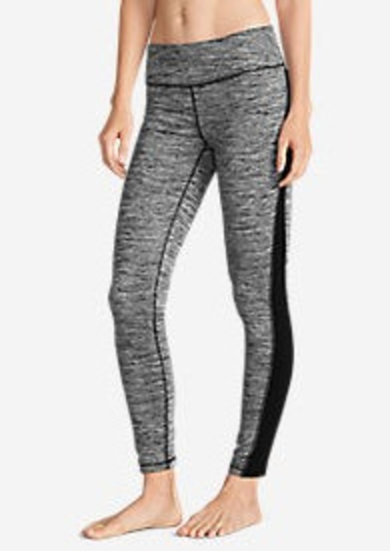 Eddie Bauer Women's Crossover Fleece Leggings - Space Dyed