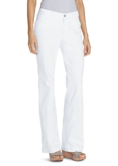 Women's Curvy Denim Trousers - White