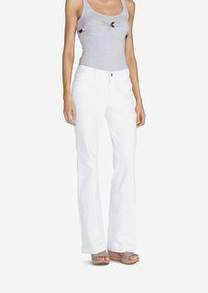 Eddie Bauer Women's Curvy Denim Trousers - White