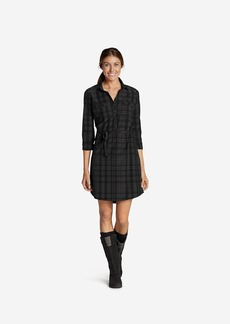 Eddie Bauer Women's Departure Shirt Dress - Plaid