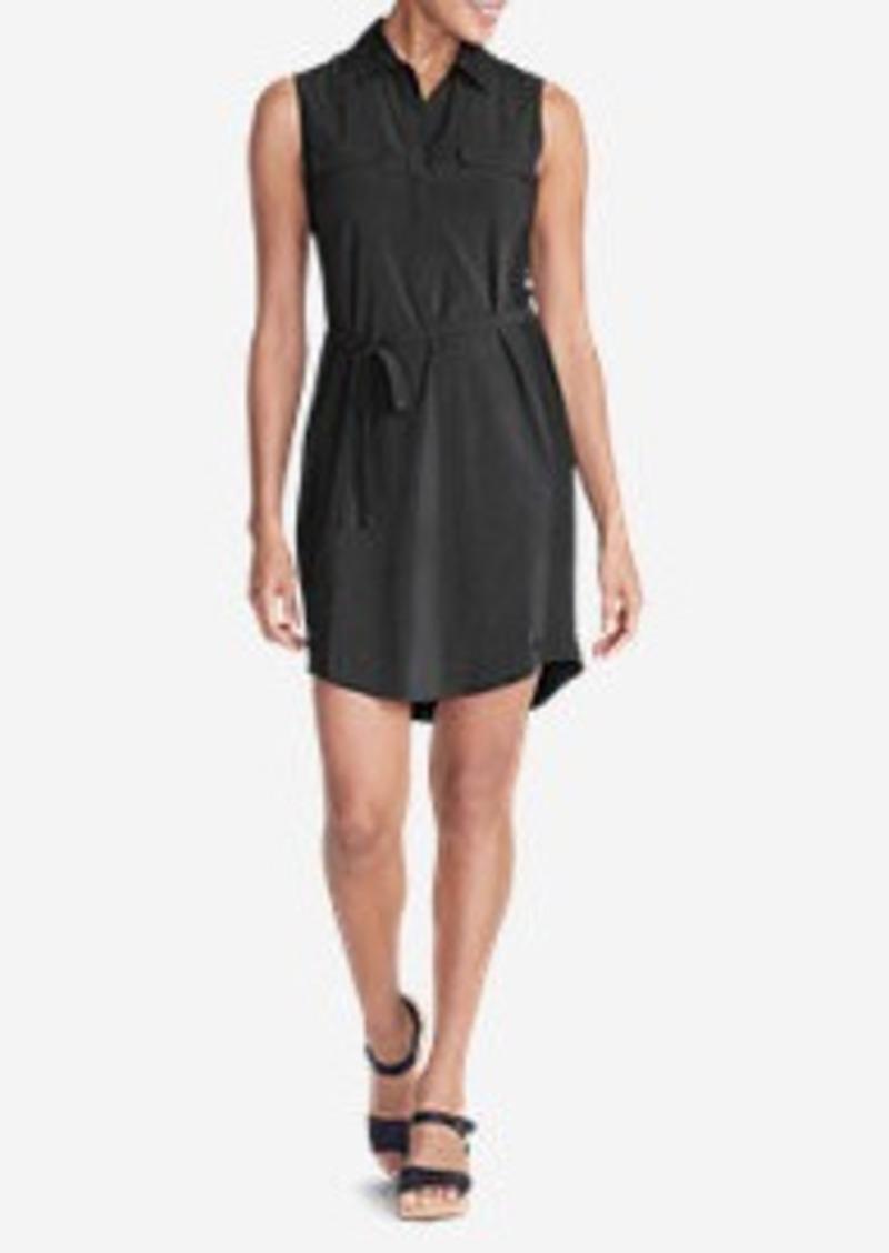 Eddie bauer women 39 s departure sleeveless shirt dress for Sleeveless dress shirt womens