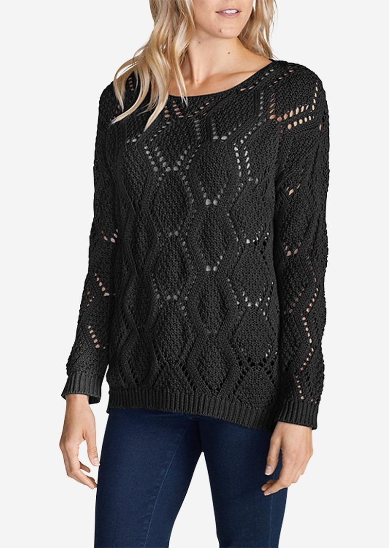 Eddie Bauer Women's Diamond Textured Pullover Sweater