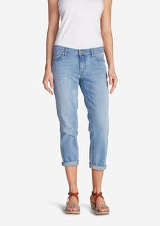 Eddie Bauer Women's Elysian Boyfriend Slim Crop Jeans