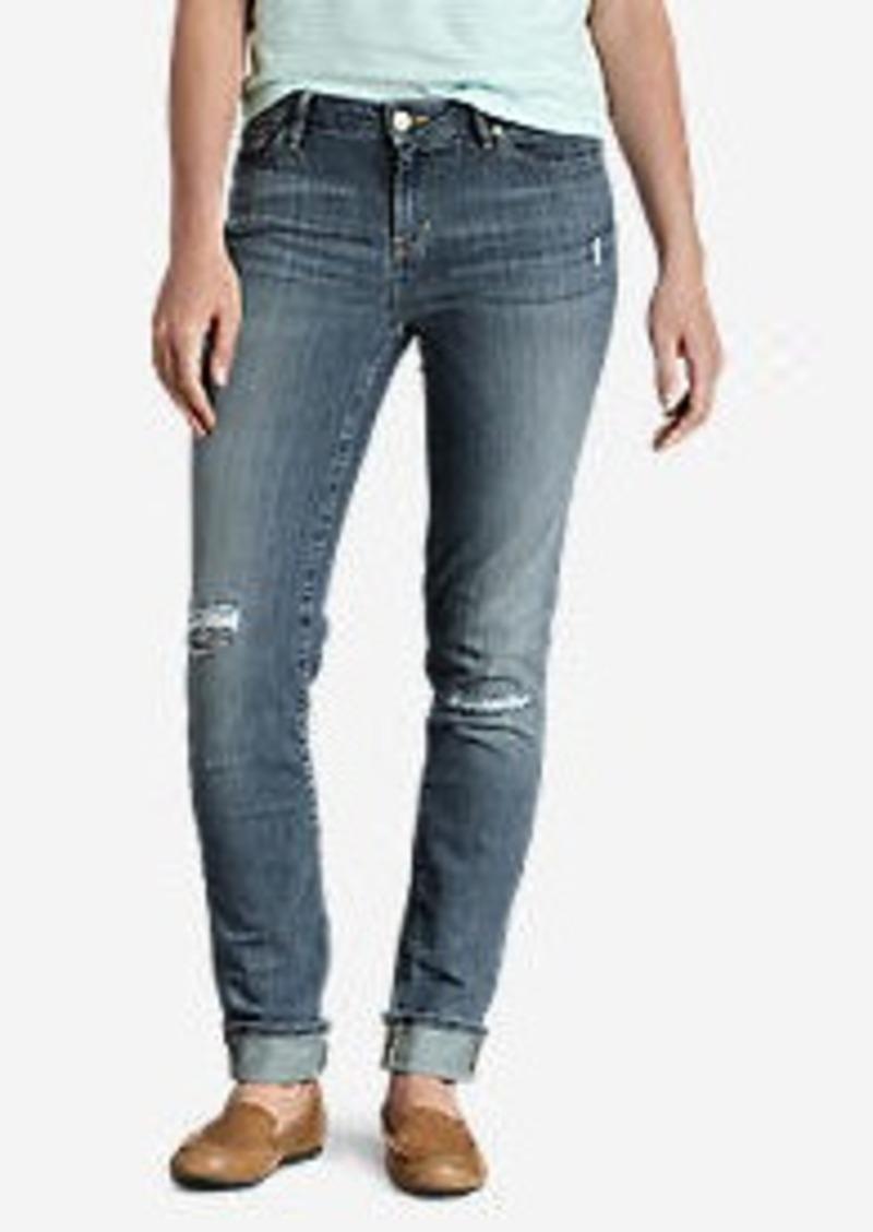 Eddie Bauer Women's Elysian Destroyed Slim Straight Jeans