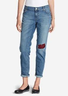 Eddie Bauer Women's Elysian Flannel Patch Jeans - Boyfriend Slim