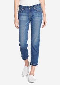 Women's Elysian Slim Straight Crop Jeans - Release Hem
