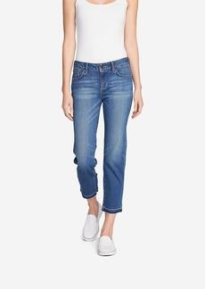 Eddie Bauer Women's Elysian Slim Straight Crop Jeans - Release Hem