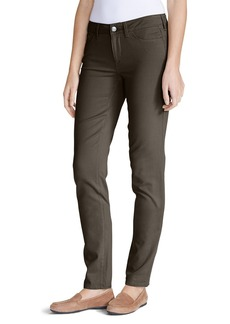 Eddie Bauer Women's Elysian Twill Slim Straight Jeans - Slightly Curvy