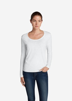 Eddie Bauer Women's Essential Slub Long-Sleeve Scoop-Neck T-Shirt