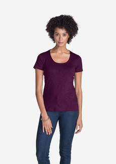 Eddie Bauer Women's Essential Slub Short-Sleeve Scoop-Neck T-Shirt