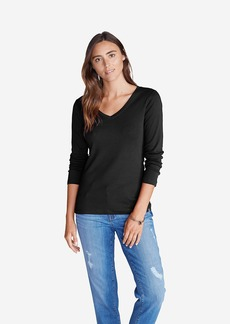 Eddie Bauer Women's Favorite Long-Sleeve V-Neck T-Shirt