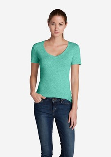 Eddie Bauer Women's Favorite Short-Sleeve V-Neck T-Shirt