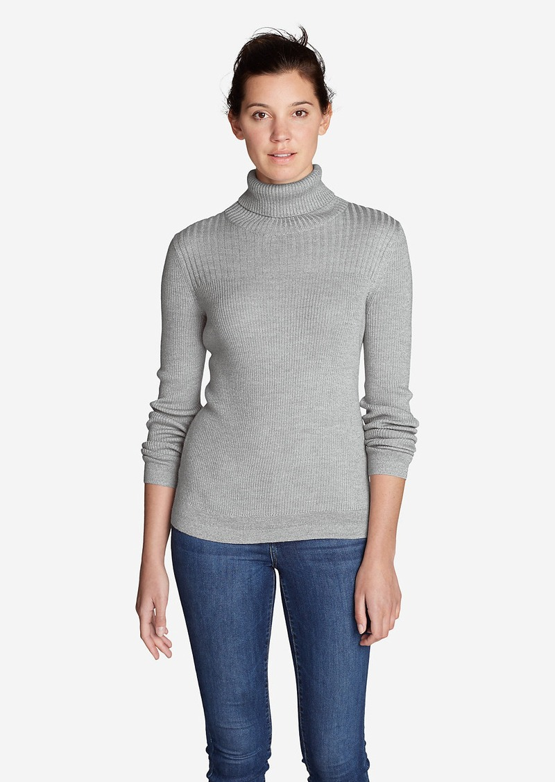 Eddie Bauer Women's Flightplan Turtleneck Sweater | Casual Shirts ...