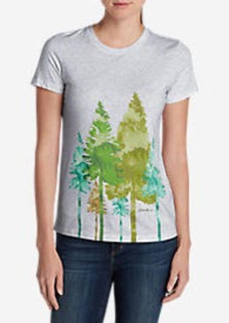 Eddie Bauer Women's Graphic Short-Sleeve T-Shirt - Trees