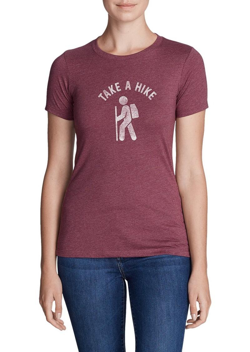 Eddie Bauer Women 39 S Graphic T Shirt Take A Hike Casual