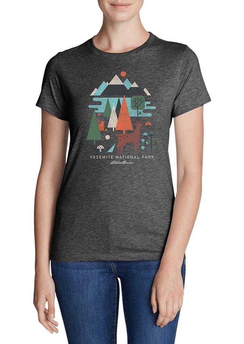 Eddie Bauer Women 39 S Graphic T Shirt Yosemite Geo