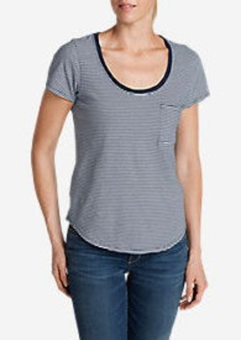 Eddie Bauer Women's Gypsum T-Shirt - Stripe