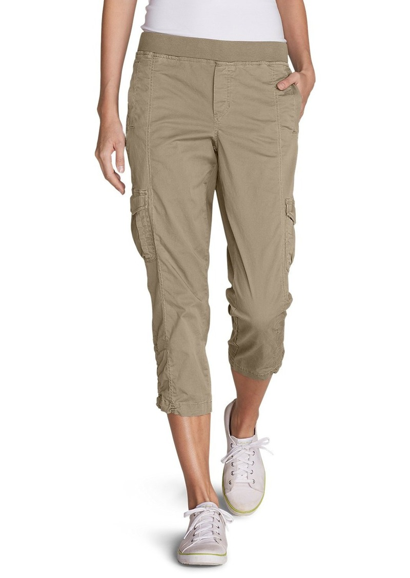 Eddie Bauer Women's Kick Back Twill Crop Pants