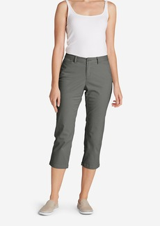 Eddie Bauer Women's Legend Wash Curvy Stretch Pants - Cropped