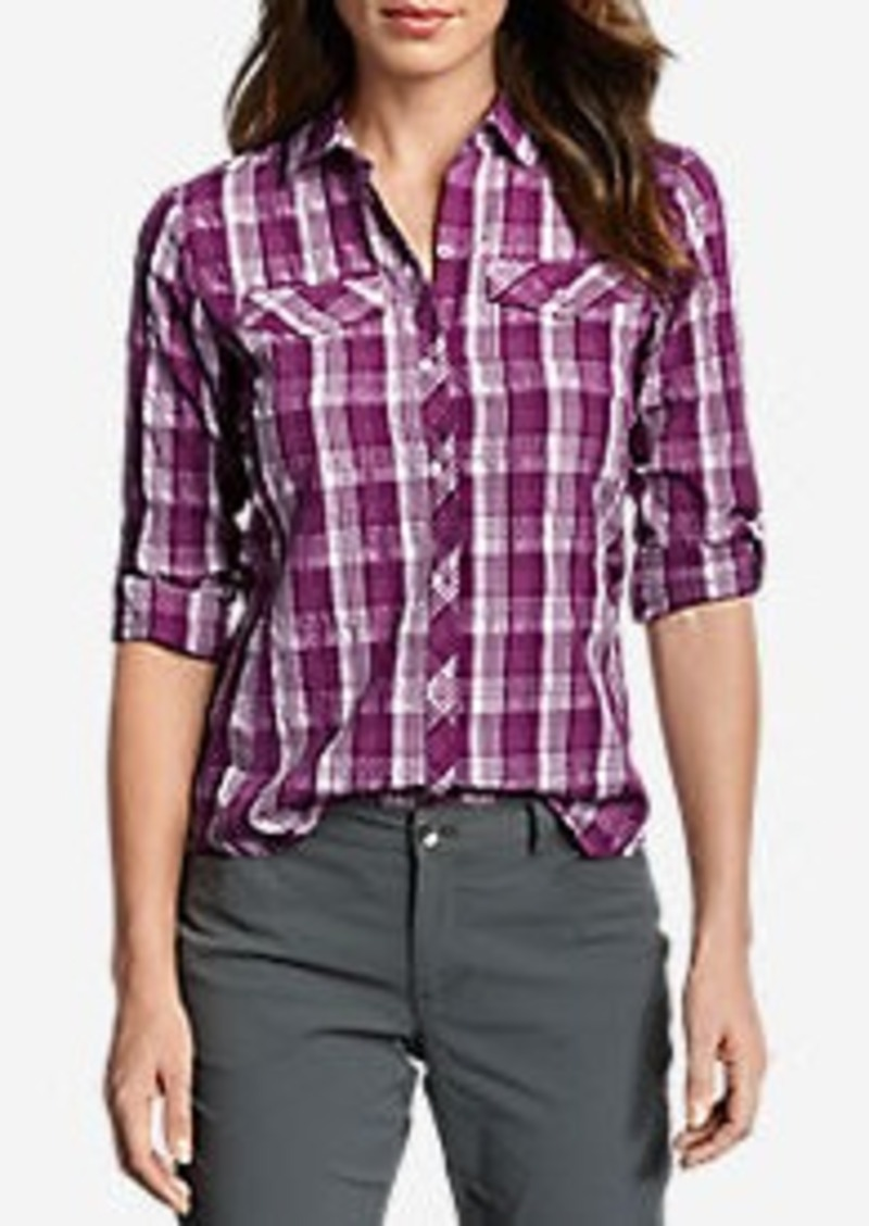 Eddie Bauer Women's Mountain Long-Sleeve Shirt - Plaid