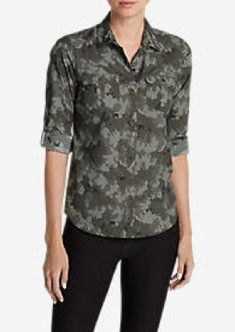 Eddie Bauer Women's Mountain Long-Sleeve Shirt - Print