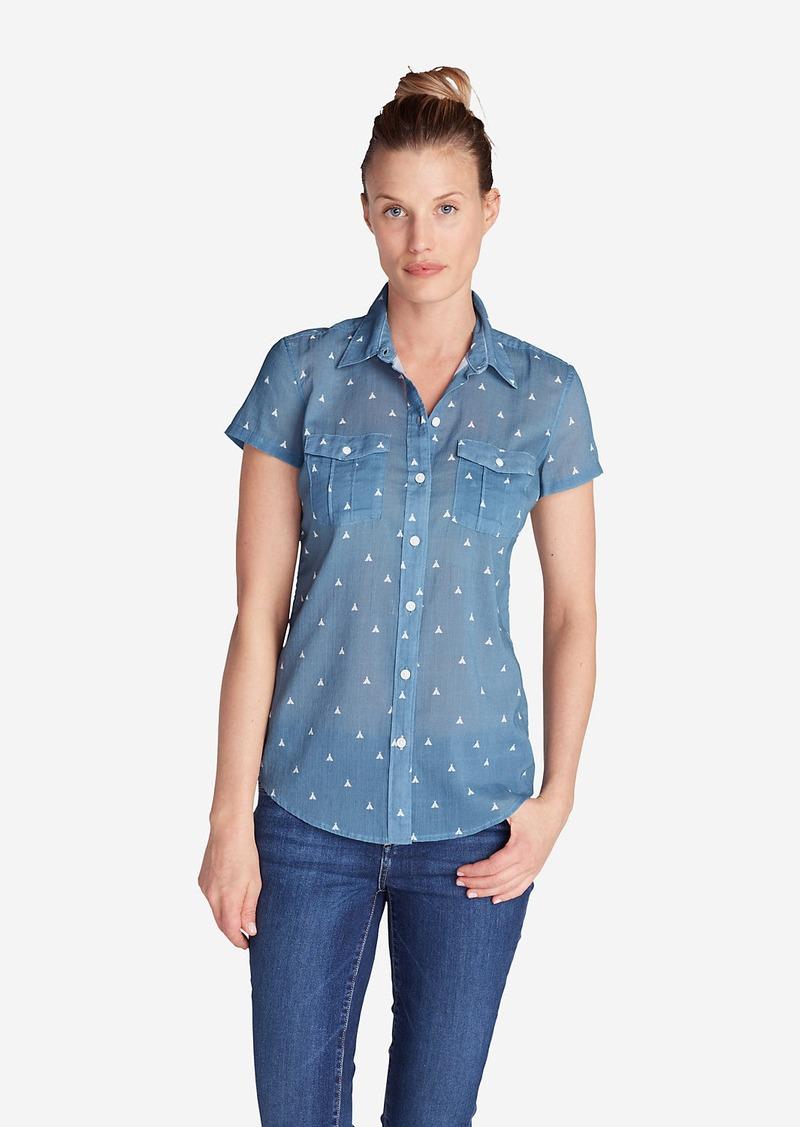 Eddie Bauer Women 39 S Packable Short Sleeve Shirt Print